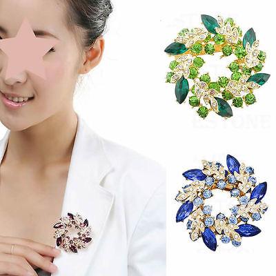 Fashion jewelry Lady Rhinestone Crystal Wedding Bouquet Silver brooch pin flower