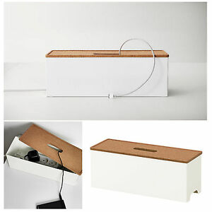 Image Is Loading IKEA Cable Management Box Extension Lead Charger Hide