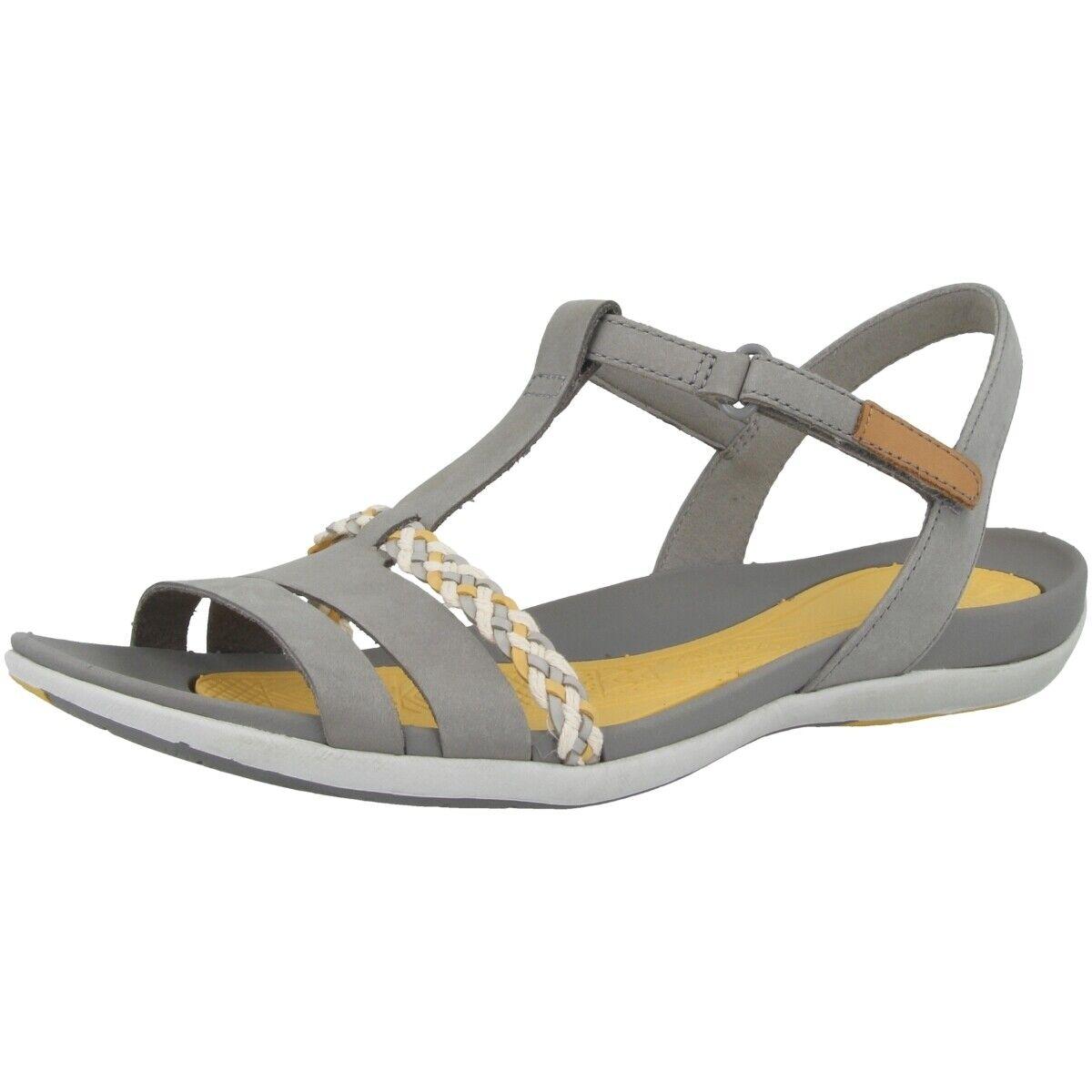 Clarks Tealite Grace Damen Sandale Freizeit Leder Sandaletten grau 26142360