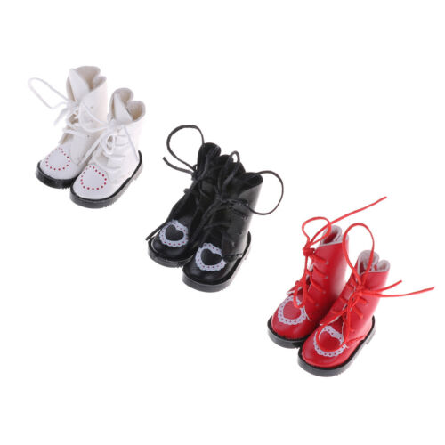 1Pair PU Leather 1//8 Doll Boots Shoes for BJD 1//6 Dolls Blythe Licca Jb Dolls Mr