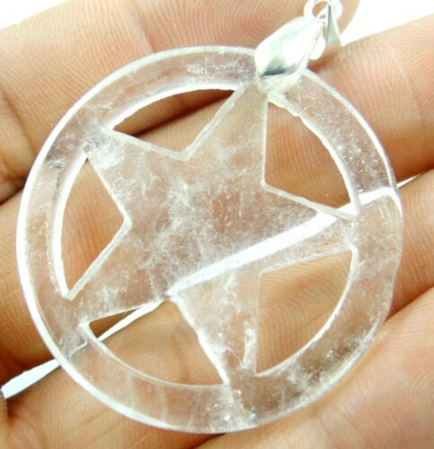 Hand-Carved of Five-pointed star Multicolored agate pendant Gemstone Beads D2