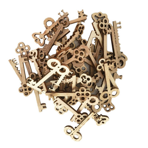 100 Stücke Schlüssel Formt Holzformen Holz Verzierung Holz Weihnachtsbaum