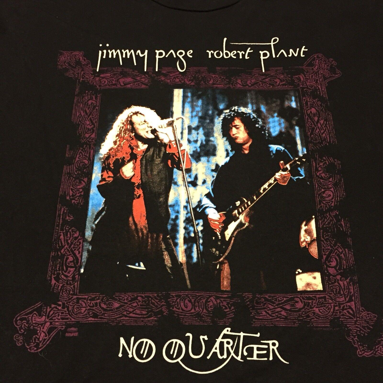 Vintage 1995 Jimmy Page Robert Plant Concert T-shirt 2-sided Tour Led Zeppelin