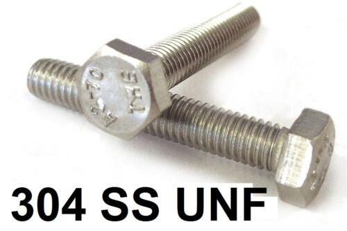 """Qty 20 Hex Set Screw 1//4/"""" UNF x 1//2/"""" Stainless Steel 304 SS A2 70 Bolt"""