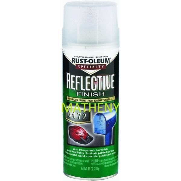 Rustoleum ~ Reflective Spray Paint 10 oz ~ Semi-Transparent Finish ~ 214944