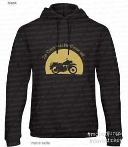 Kapuzen-Sweater-Hoodie-034-Im-Osten-geht-die-Sonne-auf-034-Mopedjungs-MZ-ES-150-IFA
