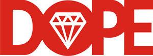Dope-Diamond-Decal-Sticker-195mm-x-70mm-colours-NEW-car-window-van-art