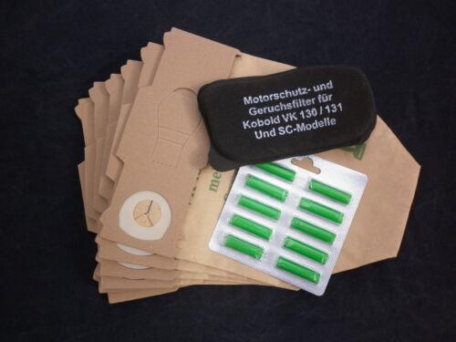 6 Staubbeutel Tüten Papier geeignet Vorwerk Kobold 130 131 Filter 6 Duft