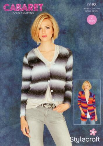 Stylecraft 9183 Knitting Pattern Ladies Cardigans in Cabaret DK