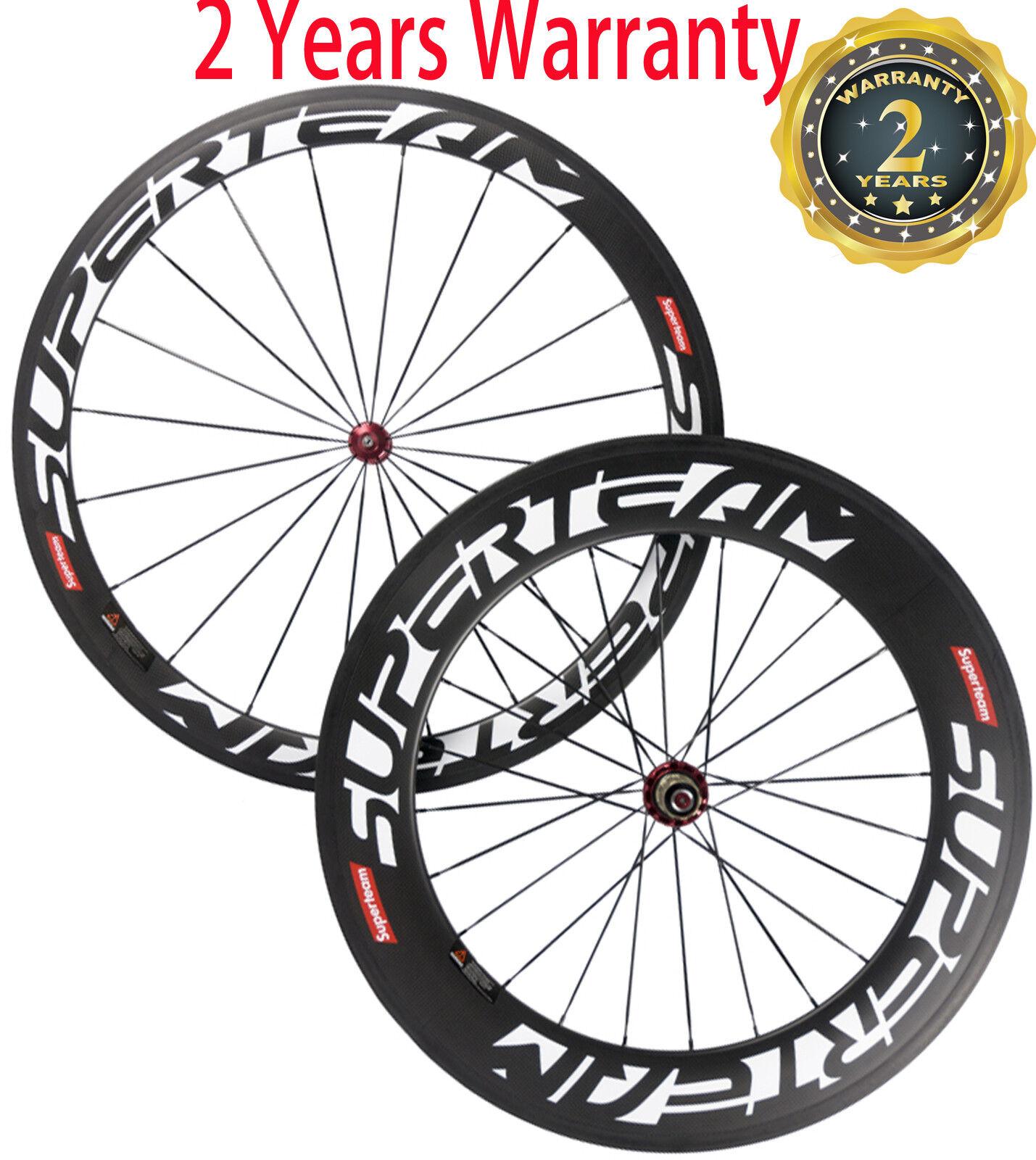 Superteam Front 50mm Rear 88mm Wheels 700C 25mm U Shape Carbon Bicycle Wheelset