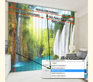 Blockout Window Curtains Photo Printing Fabric Curtain