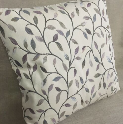 "John Lewis Voyage Cervino Fabric Cushion Cover 18/""x18/"" Lilac Leaf Trail"