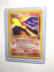 Nm Pokemon Moltres Card Black Star Promo Set 21 Legendary Fire Bird
