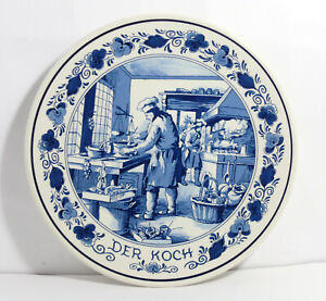 Wall-Plate-Handcraft-Royal-Goedewarden-Blue-Delft-Holland-The-Cook