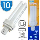 10x 10w 2 Pin Cap CFL Fluorescent Lamp Bulbs Compact Cool White Light 4200k PL