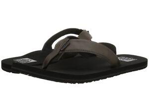 Reef-Men-039-s-Size-Grey-TwinPin-2915-Sandals-Flip-Flops-NEW