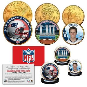 ef8fa0ad Details about SUPER BOWL 53 NFL CHAMPIONS New England Patriots 3-Coin 24K  Gold Set - TOM BRADY