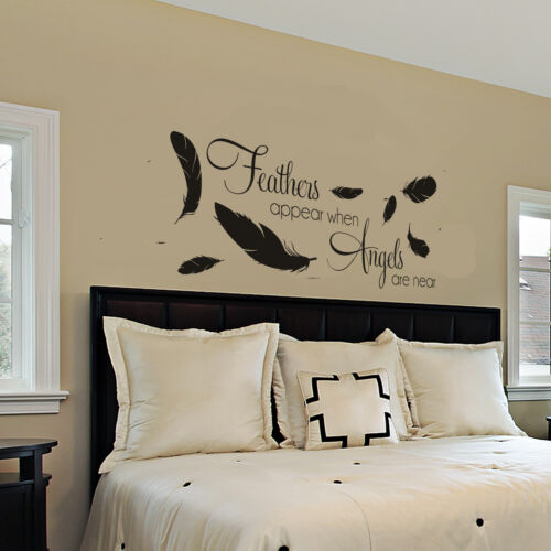 feathers appear when angels are near wall sticker bedroom Wall Art Bedroom