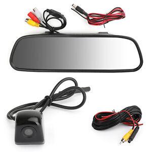170-HD-Voiture-Camera-de-Recul-5-0-034-Car-Mirror-Monitor-Kit-Vehicle-System-FR