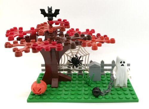 Small Haunted Halloween Tree Custom Set Glow In The Dark Ghost