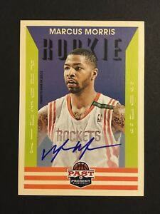Marcus-Morris-Signed-2012-13-Panini-Past-And-Present-Rookie-Auto-Rc-245-Mint