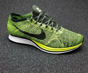 467a6558f571 ... purchase image is loading nike flyknit racer volt black sequoia brand  new 11a82 6e04f