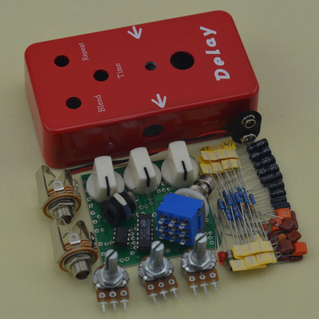 DIY Pedal Delay Kit Guitar Effect Pedals and You Can Choose 1590b Aluminum  Boxs
