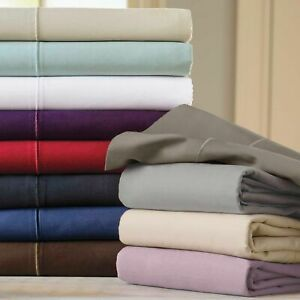 Luxury-Bedding-Items-Egyptian-Cotton-1000-Thread-Count-Solid-Colors-US-Cal-King