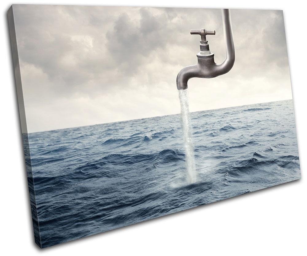 Surreal Tap Tap Tap in Sea  Illustration SINGLE TELA parete arte foto stampa ad09fd