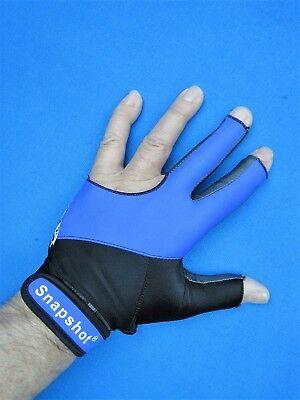 New! Blue/black Snapshot® Pro Series Billiard Glove-left Or Right Hand