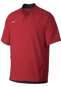 Details about NIKE NWT Baseball Batting Cage Jacket Men's Size Small Red AH9610 657