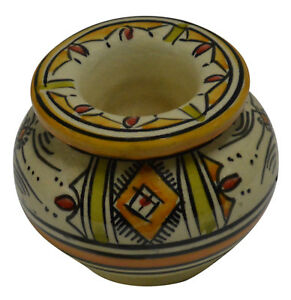 Moroccan Ashtray Handmade Colorful For Cigarette Outside