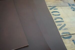 DARK BROWN FULL GRAIN LEATHER COWHIDE PIECES 3.5-4mm thick VARIOUS ...