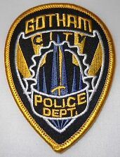 """Batman Gotham Police Shield 2 1/2"""" Wide Embroidered Patch"""