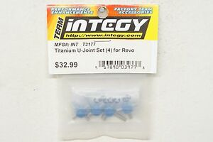 for Revo Upgrade HD Driveline 4 Integy T3177 Titanium U-Joint Set