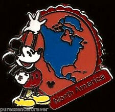 Disney Pin: WDW Hidden Mickey 2012 - Continent Stamps: North America