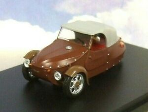 ABREX-1-43-DIECAST-1966-VELOREX-16-350-3-WHEEL-CAR-TRICYCLE-CYCLE-CAR-BROWN-GREY
