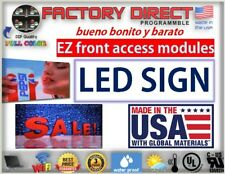 Full Color Led Sign 13 X 38 Double Sided 10mm Programmable Message Outdoor P10