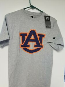 New-w-Tags-Men-039-s-Russell-Gray-Auburn-Tigers-T-Shirt-Size-Small-S
