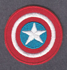 CAPTAIN AMERICA LOGO - MARVEL COMICS- Iron On  Patch/TV, Movie,Cartoons,