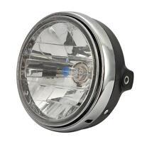 7 Motorcycle Headlight Black H4 12v 35w P43t Halogen Bulb For Honda