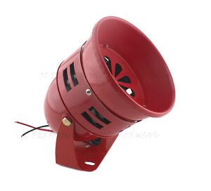 FIRE-ENGINE-RED-12V-AIR-RAID-SIREN-HORN-TORNADO-ALARM-REAL-MOTOR-DRIVE-ANALOG