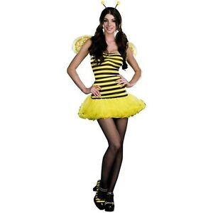 Image is loading HONEY-BEE-QUEEN-BUMBLE-BEE-ADULT-HALLOWEEN-COSTUME-  sc 1 st  eBay & HONEY BEE QUEEN BUMBLE BEE ADULT HALLOWEEN COSTUME WOMENu0027S SIZE ...