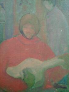 Beau-tableau-guitariste-annees-70-huile-sur-toile-signee-ecole-de-Paris-russe