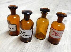 Arzt & Apotheker 4 Stück Geschickte Herstellung Obligatorisch Alte Apothekerflaschen Braunglas Gefäß Apotheke Flaschen & Gefäße
