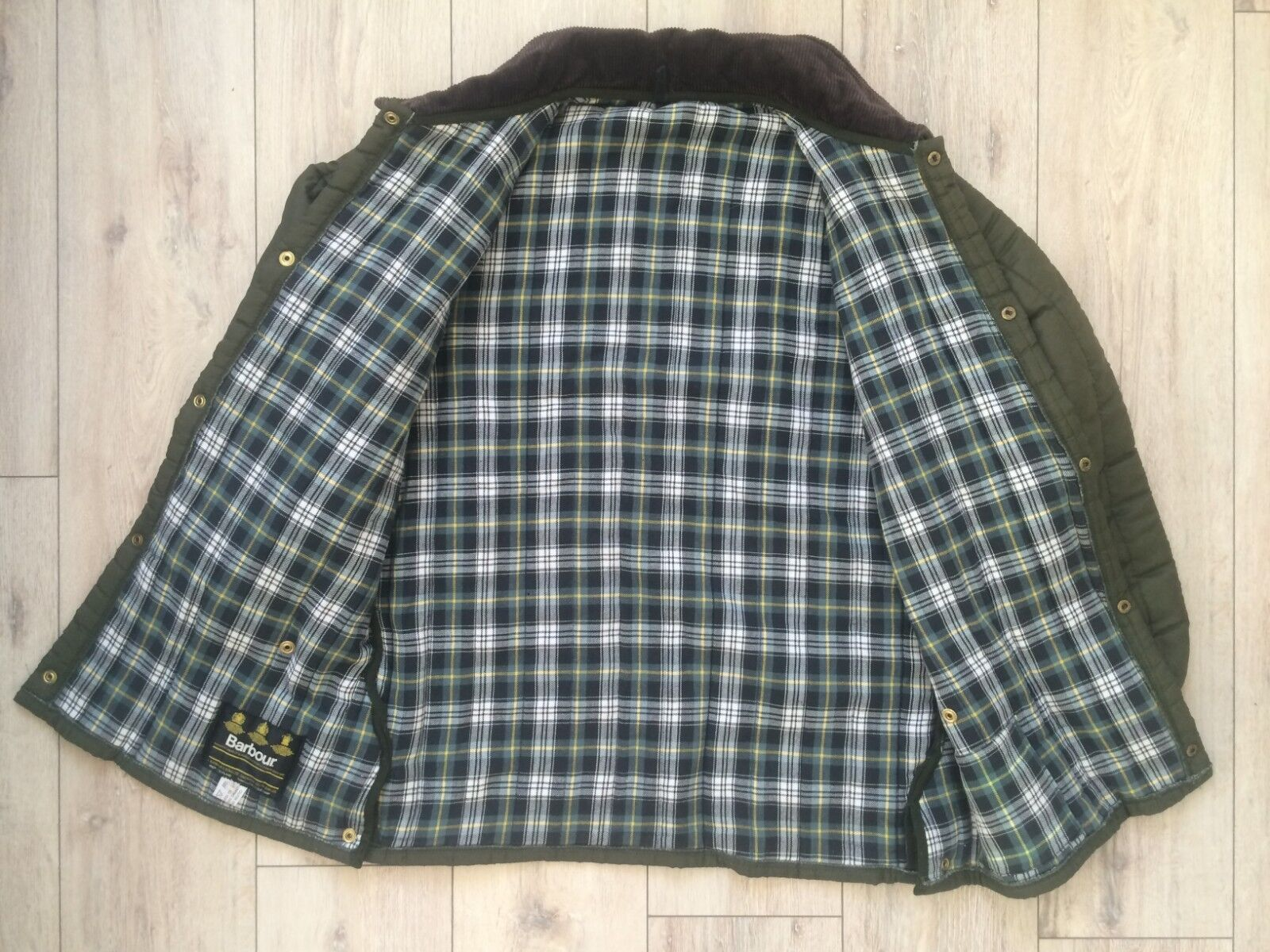 Rare BARBOUR Vintage Men Hunt Quilted Puffer Down… - image 2