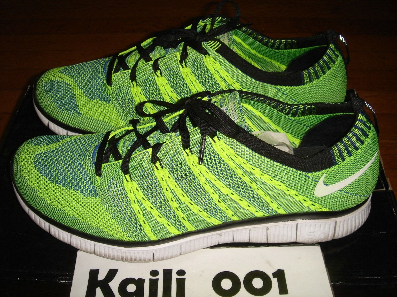 pretty nice 36f75 79405 Worn Nike Free Flyknit HTM SP SP SP Size 12 Green Volt No Box 616171-