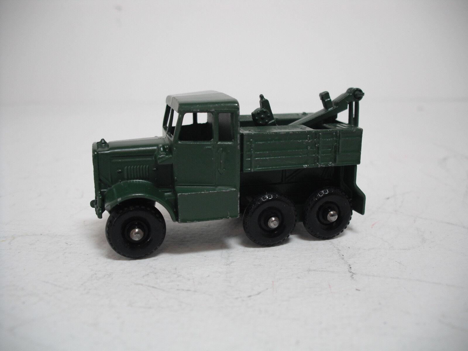 Vintage Matchbox Lesney Ejército  64A Scammel ruptura camión casi nuevo y sin usar