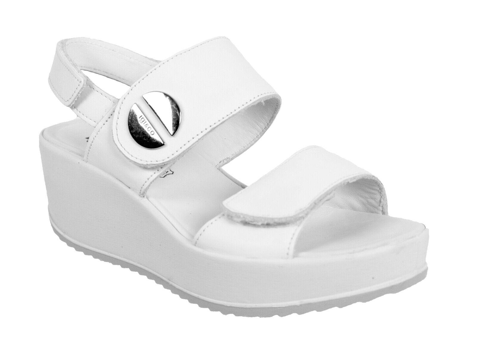 Chaussures SANDALI CON ZEPPA femmes IGI&CO ESTATE 3173322  CANDY BIANCO