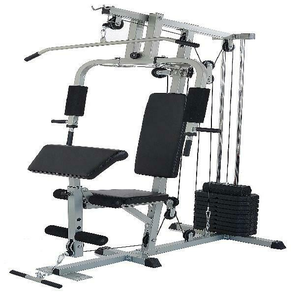 NEW Heavy Duty Fitness Workout Exercise Equipment Home Gym System Triceps Cable